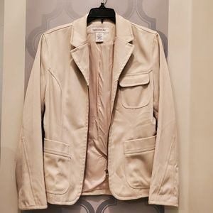 Banana Republic Tan Zip Up Jacket Pockets